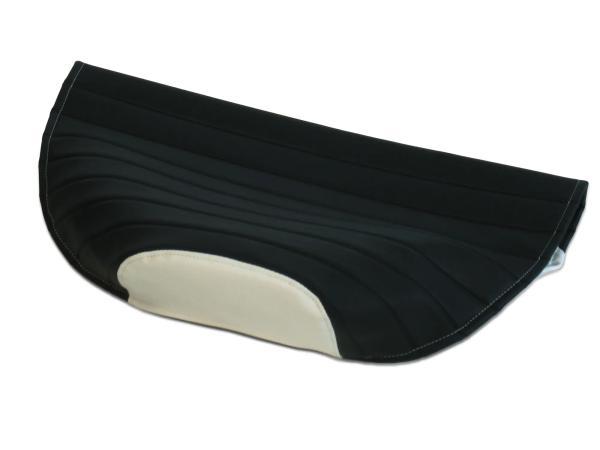 Sitzbezug strukturiert, schwarz/weiß ohne Logo - für Simson S53, S83, SR50, SR80,  10062775 - Bild 1