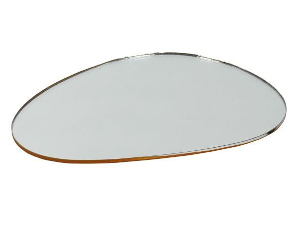 10058954 Spiegelglas, Niere-rund, links, 117 x 82mm - Bild 1
