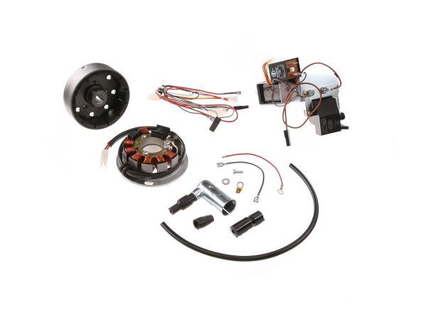 Set: Umrüstsatz VAPE auf 12V, Magnete vergossen (ohne Batterie, Hupe und Leuchtmittel) - Simson KR51/1 Schwalbe, KR51/2 Schwalbe,  10060423 - Bild 1