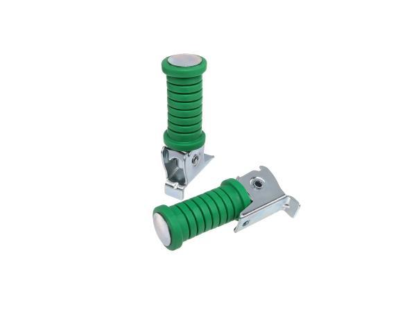 Set: Soziusfußraste links u. rechts grün, verzinkt - Simson,  10060056 - Bild 1