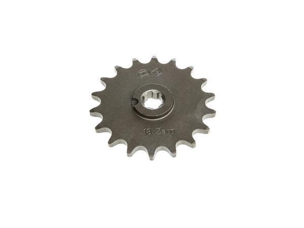 Ritzel, kleines Kettenrad, 18 Zahn - für Simson S50, KR51/1 Schwalbe, SR4-2 Star, SR4-3 Sperber, SR4-4 Habicht,  10057223 - Bild 1
