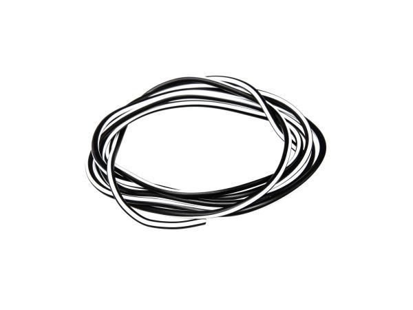 10001771 Kabel - Schwarz/Weiß 0,50mm² Fahrzeugleitung - 1m - Bild 1