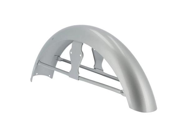 Kotflügel vorn, mit Strebe, Silber lackiert - für Simson S50,  10070635 - Bild 1