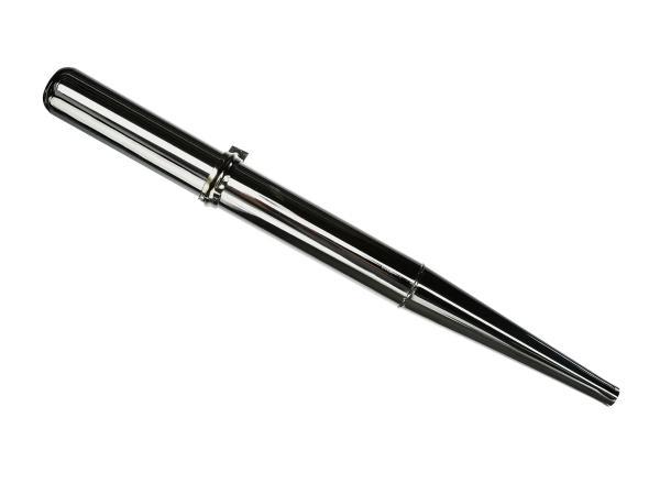 Auspuff - Standard, chrom - Simson S50, S51, S70, KR51/2 Schwalbe, SR50, u.a.,  10000203 - Bild 1