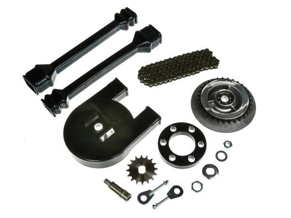 Großes Kettenradantrieb-Set (Ketten-Set) - für Simson SR50, SR80,  10000449 - Bild 1