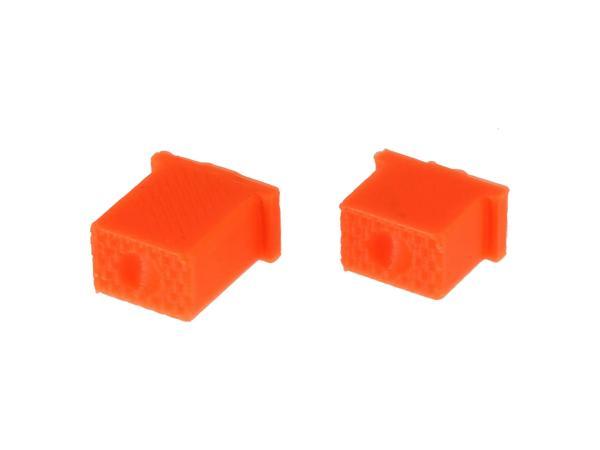 10069582 Set: Knopf für Hupe & Lichthupe 3D, Orange, Doppeltaster - für S51, S70, SR50, SR80 - MZ ETZ - Bild 1