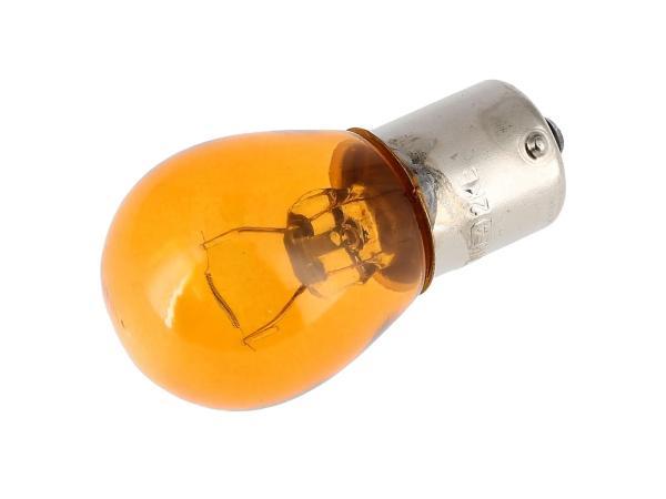 Kugellampe 12V 21W BA15s orange, von VEBCO,  10070079 - Bild 1