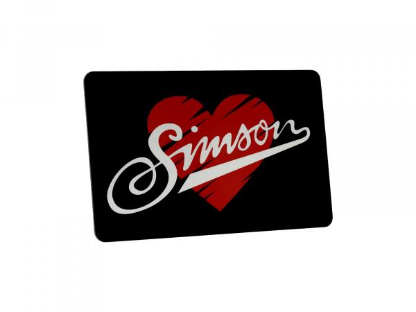 "10070235 Frühstücksbrettchen 23,3 x 14,3 cm, Motiv: ""I love SIMSON"" - Bild 1"