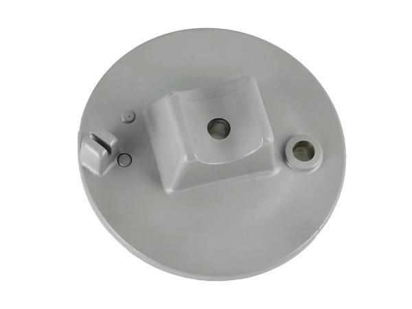 Bremsschild vorn - grau pulverbeschichtet - mit Bolzen - Simson SRA50, MSA50-Spatz,  10061302 - Bild 1