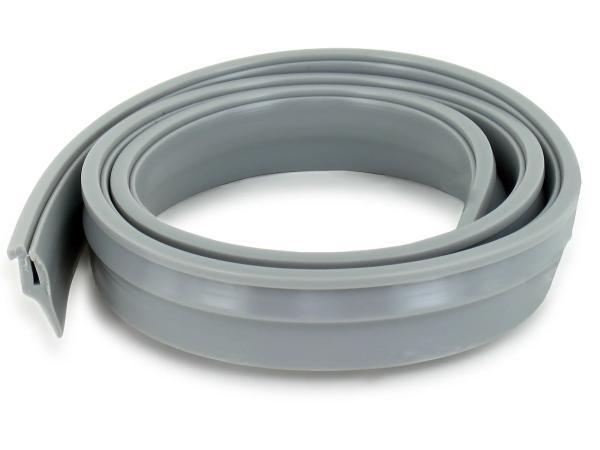 Keder f. Scheinwerfer/ Tank - PVC grau - 650mm - geschnitten 700mm - SR4-2, SR4-3, SR4-4,  10060798 - Bild 1