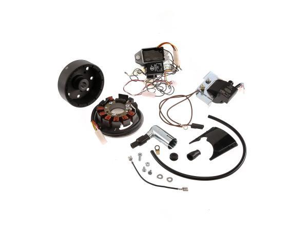 Set: Umrüstsatz VAPE auf 12V, Magnete vergossen (ohne Batterie, Hupe und Kugellampen) - Simson S50, S51, S70,  10022617 - Bild 1