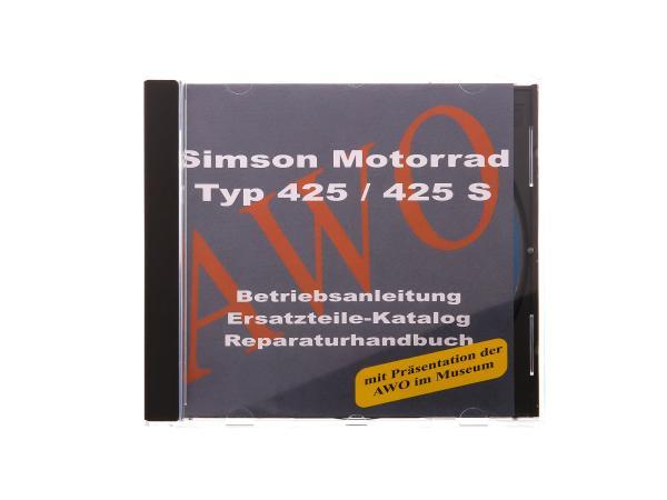 CD - SIMSON Simson AWO 425 Motorrad 425/425S Originaldokumente,  10002784 - Bild 1