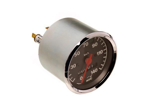 Tachometer bis 140 km/h, Ø80mm, Kontrollleuchten BLAU + GRÜN - MZ ETZ,  10003485 - Bild 1