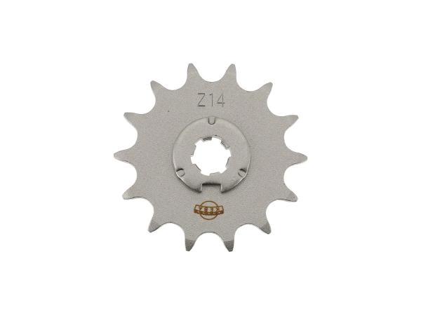 Ritzel, kleines Kettenrad, 14 Zahn - Simson S50, KR51/1 Schwalbe, SR4-2 Star, SR4-3 Sperber, SR4-4 Habicht,  10059746 - Bild 1