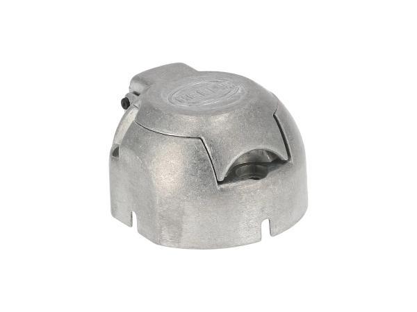 Steckdose, 7-polig für Anhänger, aus Metall,  10055606 - Bild 1