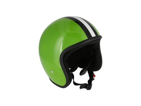 "ARC Helm ""Modell A-611"" Retrolook - Hellgrün mit Streifen,  10069594 - Bild 1"