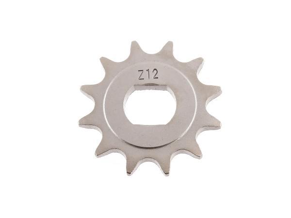 Ritzel, kleines Kettenrad, 12 Zahn - Simson S51, S70, S53, S83, KR51/2 Schwalbe, SR50, SR80,  10067109 - Bild 1