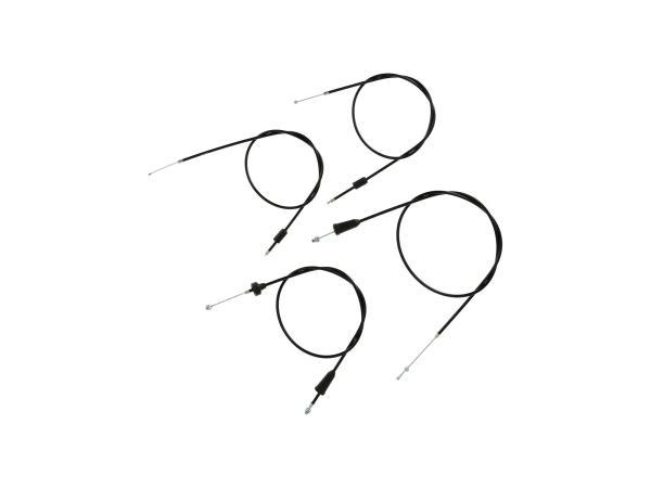Set: 4 Bowdenzüge schwarz, Hochlenker - MZ TS 250, 250/1,  10069830 - Bild 1