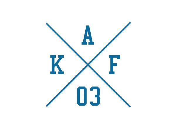 """Aufkleber - """"Kreuz AKF 03"""" Folienplot Blau, mit Übertragungsfolie,  10069149 - Bild 1"""