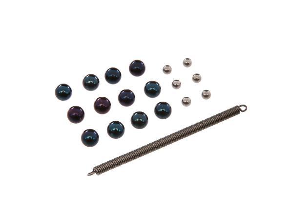 Set: Kugelsatz für Abtriebswelle, 4 Gang, mit 3-fach Verrastung - Simson S51, KR51/2 Schwalbe, SR50,  10067403 - Bild 1