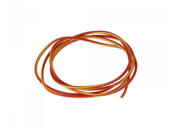 10001776 Kabel - Rot/Gelb 0,50mm² Fahrzeugleitung - 1m - Bild 1