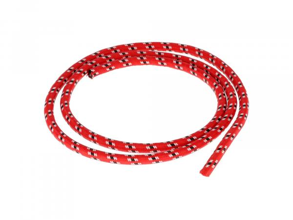 Zündkabel Textilummantelt, Rot/Weiß/Schwarz - 1m,  10069876 - Bild 1