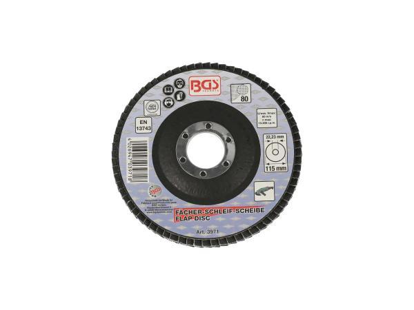 Fächer-Schleif-Scheibe Ø 115mm, K80,  10069836 - Bild 1