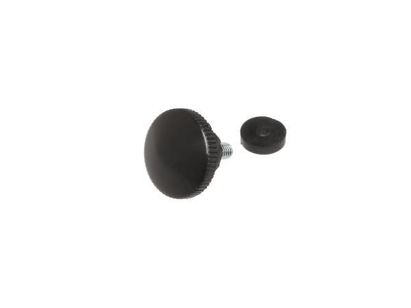 Rändelschraube schwarz mit Druckscheibe (M6) ES125, ES150, ES175, ES175/1, ES250, ES250/1, ES300,  10057389 - Bild 1