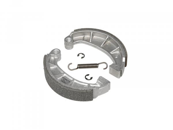 10066100 Set: Bremsbacken inkl. Feder und Sicherungsclips, angegossene Stahlauflage - Bild 1