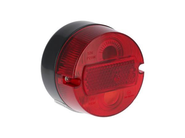 Rücklicht rund komplett, Ø100mm, mit Kennzeichenbeleuchtung - Simson S50, KR51/2 Schwalbe,  10069338 - Bild 1
