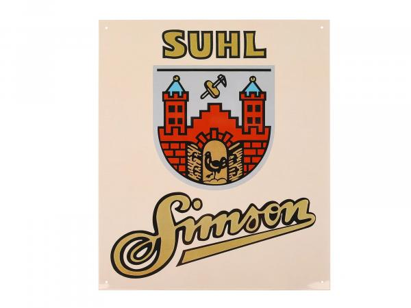 "Blechschild ""SIMSON SUHL"",  10005630 - Bild 1"