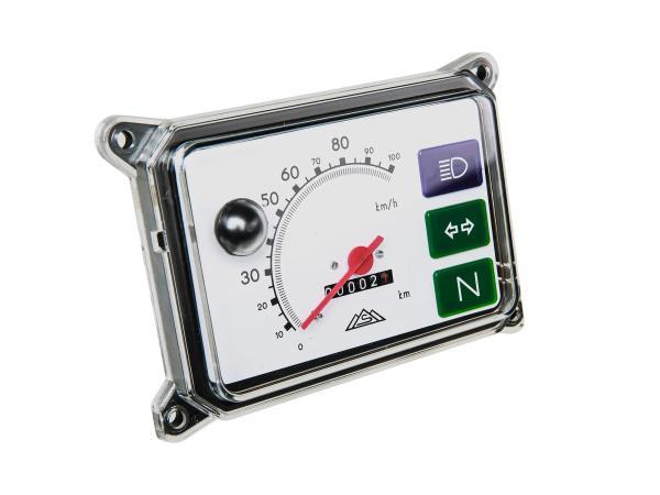 Gerätekombination, Tachometer, Kombiinstrument für SR50, SR80 - ohne Beleuchtung, Skale weiß - 100 km/h,  10065560 - Bild 1