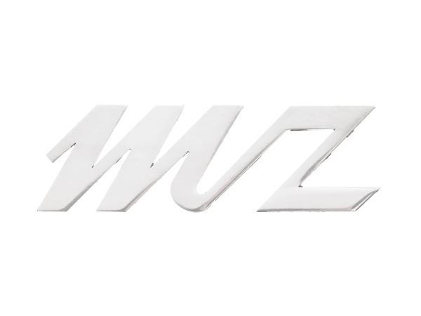 """10067987 Schriftzug """"MZ"""" Alu poliert für Seitenwagen Stoye, Beinschutzblech ES, ES/1 - Bild 1"""