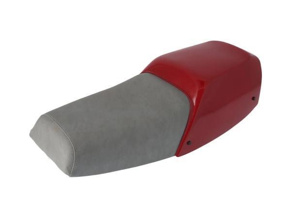 10071004 Sitzbank grau, mit Abdeckung purpurrot - Simson S53 Mofa - Bild 1