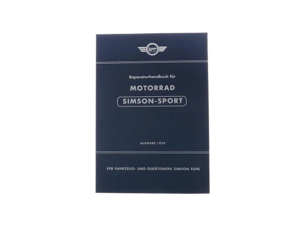 """Reparaturhandbuch Motorrad """"SIMSON-SPORT"""" Ausgabe 1959 - pass. für AWO425S -mit 89 Bildern,  10063555 - Bild 1"""