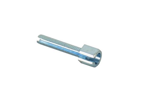 Stellschraube lang ohne Rändelmutter - M6x30 - geschlitzt - f. Lenkerarmaturen (Bowdenzüge) - Gesamtlänge 40 mm - Simson - MZ,  10044104 - Bild 1