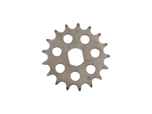 Ritzel RESO, kleines Kettenrad, Tuning 17 Zahn - für Simson S51, S70, S53, S83, KR51/2 Schwalbe, SR50, SR80,  10062803 - Bild 1