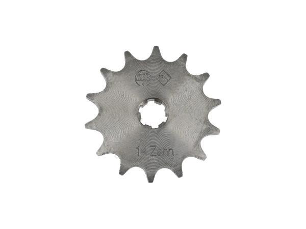 Ritzel, kleines Kettenrad, 14 Zahn - für Simson S50, KR51/1 Schwalbe, SR4-2 Star, SR4-3 Sperber, SR4-4 Habicht,  10000474 - Bild 1