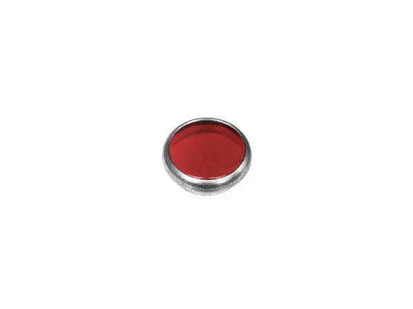 10065076 Kontrollglas, Rot, Alu-Fassung, Ø16mm - Simson AWO, MZ RT, BK350, EMWR35 - Bild 1