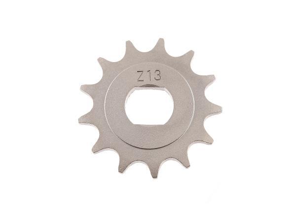 Ritzel, kleines Kettenrad, 13 Zahn - für Simson S51, S70, S53, S83, KR51/2 Schwalbe, SR50, SR80,  10000481 - Bild 1