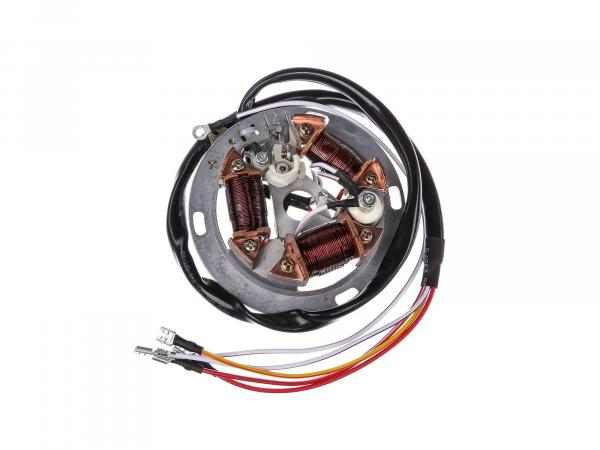 10001873 Grundplatte 8307.12-100, 12V Unterbrecher, 35/21W Bilux - für Simson SR50 - Bild 1