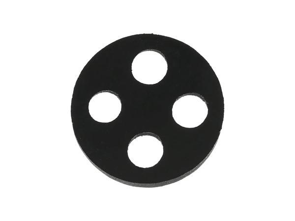 10059762 4-Loch-Dichtung für Benzinhahn, 17,7mm - Simson KR51 Schwalbe, SR50, SR80 - MZ ETZ, TS - Bild 1
