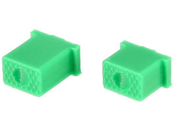 10070508 Set: Knopf für Hupe & Lichthupe 3D, Grün, Doppeltaster - für S51, S70, SR50, SR80 - MZ ETZ - Bild 1