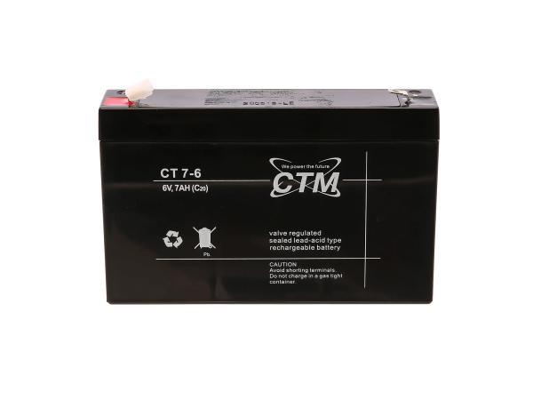 Batterie 6V 7Ah CTM (Vlies - wartungsfrei) - für Simson S50, S51, S70, SR50, SR80,  GP10068566 - Bild 1