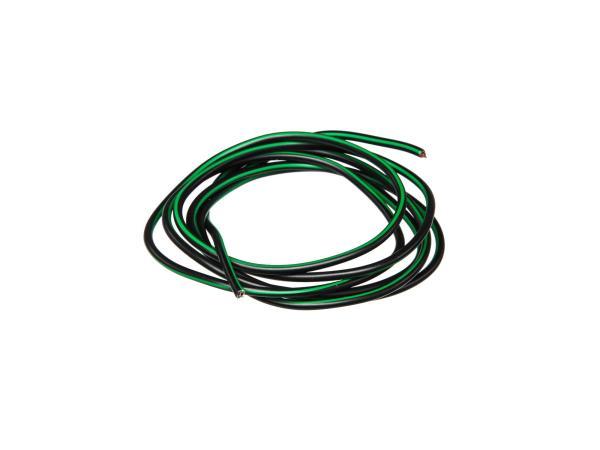 10001770 Kabel - Schwarz/Grün 0,50mm² Fahrzeugleitung - 1m - Bild 1