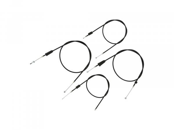 Set: 4 Bowdenzüge schwarz, Trommelbremse - MZ ETZ 125, 150,  10069814 - Bild 1