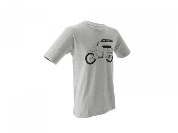 "Basic-Shirt ""Schwalbe"" - Hellgrau meliert,  10070772 - Bild 1"