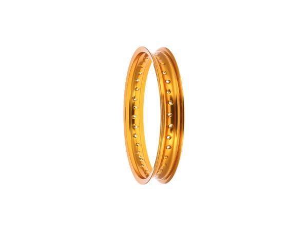 """10069974 Felge 2,15 x 16"""" Alufelge, Gold eloxiert - für MZ ES175, ES250, ES300, ETS250, TS250, ETZ251, ETZ301 - Bild 1"""