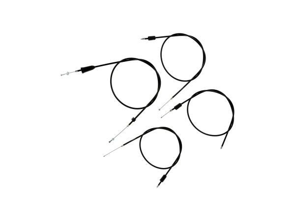 Set: 4 Bowdenzüge schwarz, Scheibenbremse, Öldosierung - MZ ETZ 125, 150,  10069817 - Bild 1