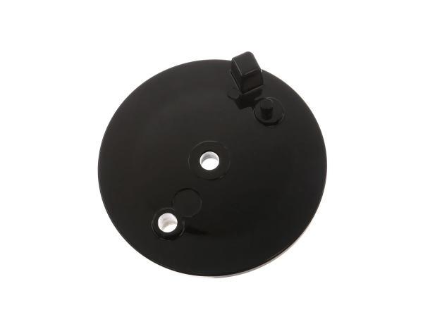Bremsschild hinten, schwarz, ohne Bohrung für Bremskontakt - Simson S50, S51, S70, KR51/2 Schwalbe,  10066615 - Bild 1
